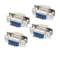 DB15 15-Pin 3-Row Male to Female Plug Computer VGA Cable Connector Adapter 8 Pcs