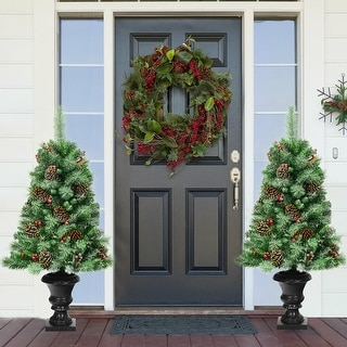 Link to 4 ft Christmas Entrance Tree with Pine Cones Similar Items in Christmas Greenery