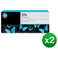 HP 771A 775-ml Light Gray DesignJet Ink Cartridge (B6Y22A) (2-Pack)