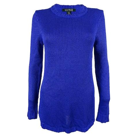 Ralph Lauren Women's Crewneck Tunic Sweater
