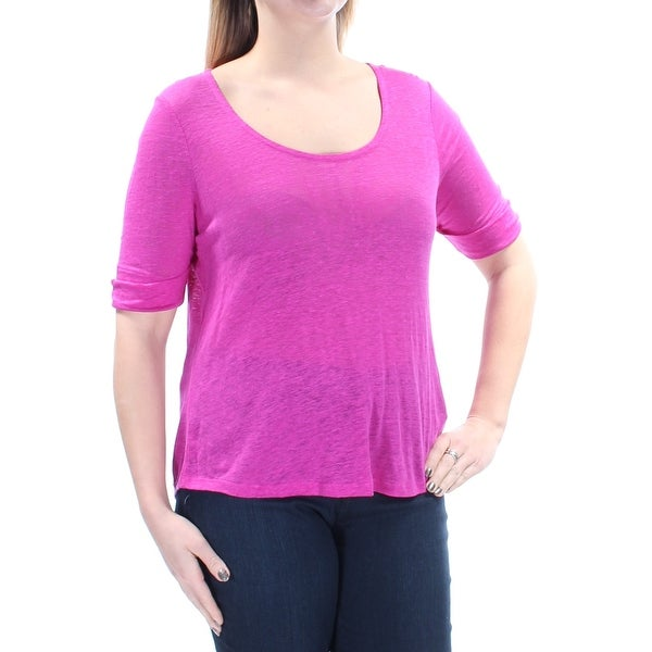 41ed291e7c5 Shop Ralph Lauren Womens Purple Short Sleeve Scoop Neck Top Size  L - Free  Shipping On Orders Over  45 - Overstock.com - 21270068