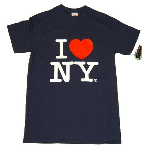 I Love NY T-Shirt - Size: Adult Small - Color: Navy