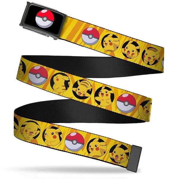 Poke Ball Fcg Chrome Pikachu Poke Ball Bullseye Yellow Rays Webbing Web Belt