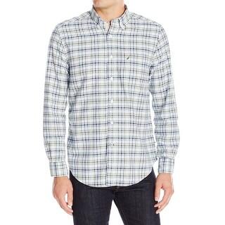Nautica NEW Blue Men's Size S Button Down Plaid Long Sleeve Shirt