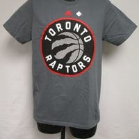 Toronto Raptors Mens Adult Size S Small Gray Adidas Shirt