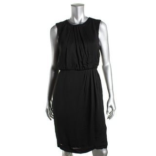 Dylan Gray Womens Pleated Sleeveless Cocktail Dress - 4