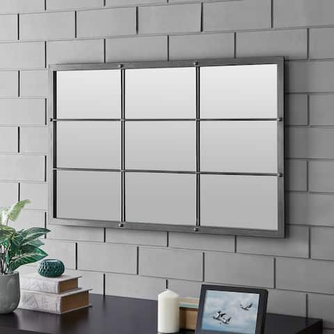 FirsTime & Co. Homestead Manor Window Mirror, Metal, 24 x 1 x 38 in, American Designed