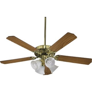 "Quorum International 77525-8102 52"" 5 Blade 4 Light Ceiling Fan - Light and Blades Included from the Capri Collection"