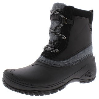 The North Face Womens Shellista III Shorty Winter Boots Leather Ankle - TNF BLack/Zinc Grey