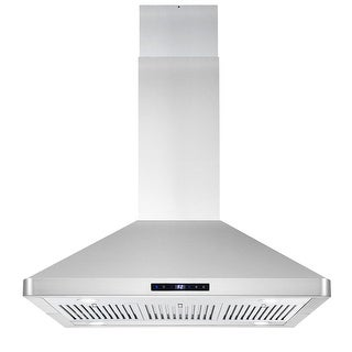 36 in. Ducted Island Mount Range Hood in Stainless Steel with LED Lighting, Permanent Filters