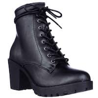 ZiGi Soho Kourtlan Lug Sole Lace Up Ankle Booties, Black