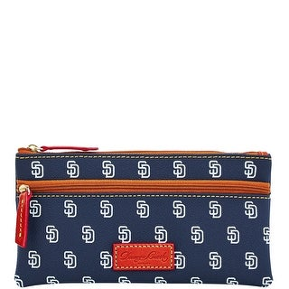 Dooney & Bourke MLB Padres Double Zip Flat Pouch (Introduced by Dooney & Bourke at $85 in Oct 2015) - Navy