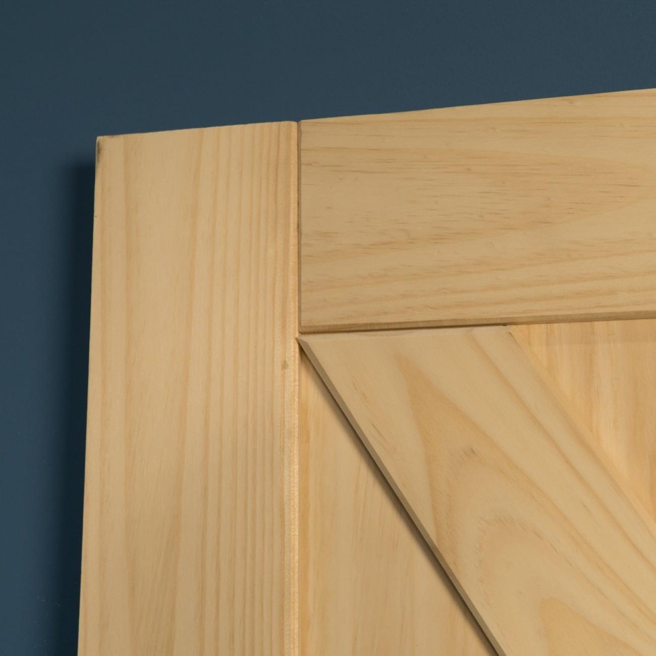 Belleze 42 X 84 Inches Natural Wood Pine Unfinished Diy Sliding Barn Door Arrow