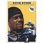 Kevin Dyson Tennessee Titans 2000 Fleer Tradition Autographed Card This item comes with a certific