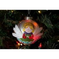 Silvestri Lisa Frost Praying Angel Ball Ornament - N/A