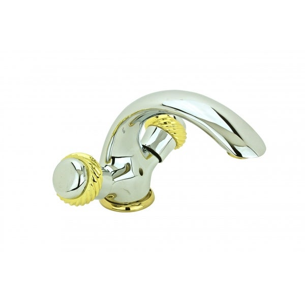 Bathroom Shell Faucet Chrome Crane Single Hole 2 Handles | Renovator's Supply
