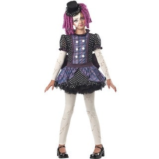 California Costumes Broken Doll Child Costume - Black/Purple