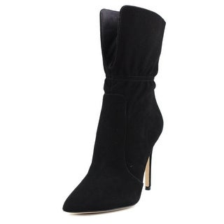 Via Spiga Felienne Women Pointed Toe Suede Black Mid Calf Boot