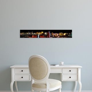 Easy Art Prints Panoramic Image 'High angle view of a city at night, Las Vegas, Clark County, Nevada, USA' Canvas Art
