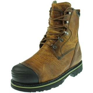 """Timberland Mens Warrick 10"""" Smelter Leather Non-Marking Work Boots"""