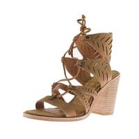 Dolce Vita Womens Luci Gladiator Sandals Leather Laser Cut