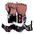 Weight Lifting Wrist Wraps Support Gym Training Bandage Straps Camo Grey B-3 - Thumbnail 1