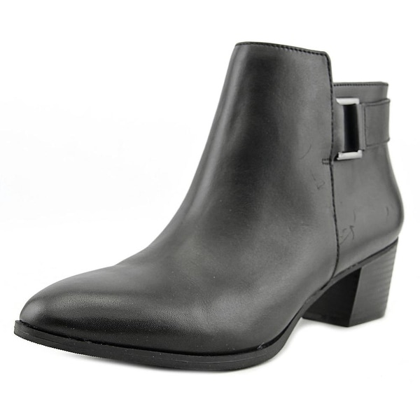 Alfani Adisonn Round Toe Leather Ankle Boot