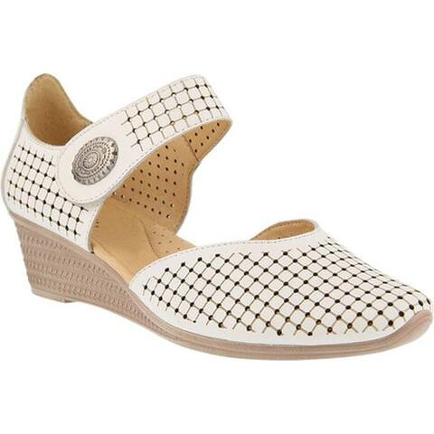 Spring Step Women's Desiree Mary Jane White Leather