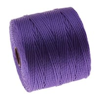 BeadSmith Super-Lon (S-Lon) Cord - Size 18 Twisted Nylon - Violet / 77 Yard Spool