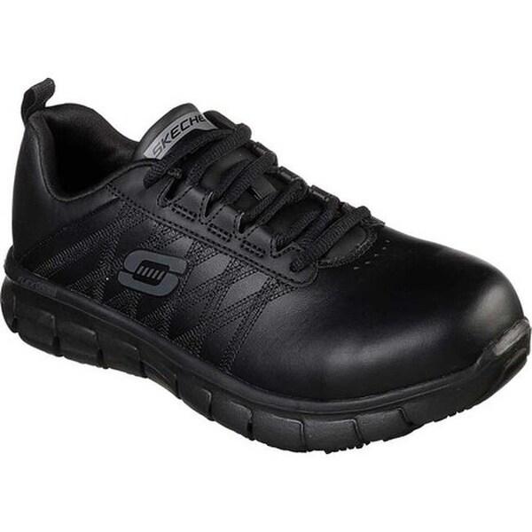 Skechers Women's Work Sure Track Martley Steel Toe Shoe Black