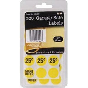 "Garage S_Ale .75"" 300/Pkg - Labels"
