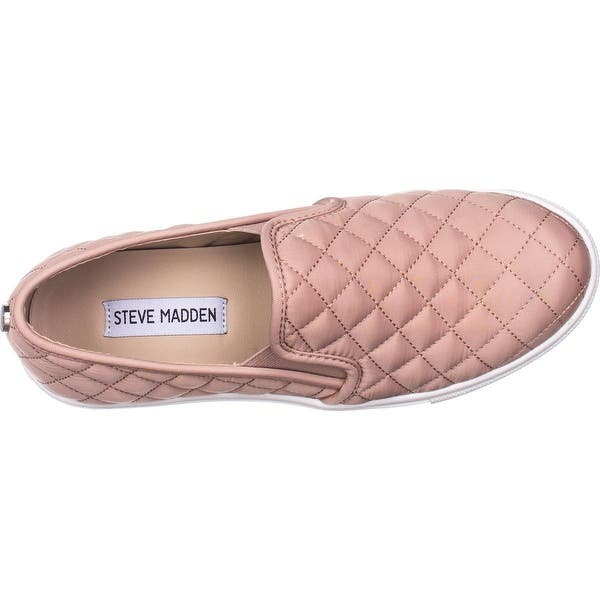 newest collection where to buy fashion styles Shop Steve Madden Ecntrcqt Slip-on Fashion Sneakers, Blush - Free ...