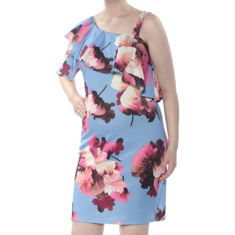 SOPRANO Blue Short Sleeve Above The Knee Dress Size 2X