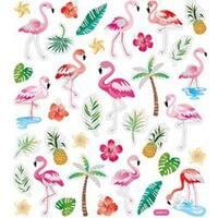 Flamingos - Multicolored Stickers