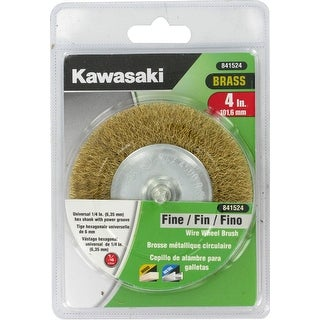 "Kawasaki� 4"" Fine Crimped Brass Wire Wheel Brush - 841524"