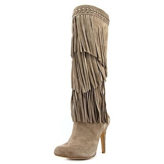 INC International Concepts Tomi Women Round Toe Suede Tan Knee High Boot