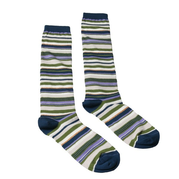 Missoni GM00CMD5219 0002 Green/Navy Knee Length Socks