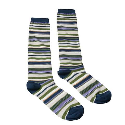 Missoni GM00CMD5219 0002 Green/Navy Knee Length Socks