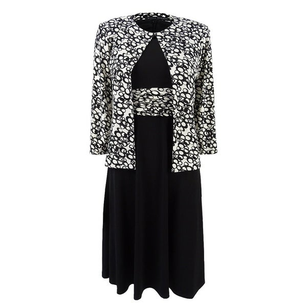 5474f2f9c722 Jessica Howard Women's Petite Midi Dress & Printed Jacket - Black