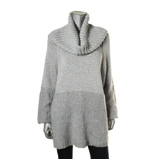 MICHAEL Michael Kors Womens Plus Metallic Mixed Media Pullover Sweater