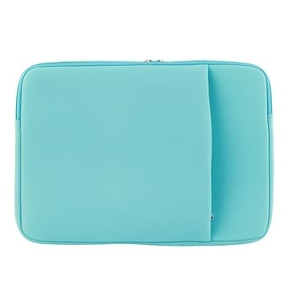 Macbook Air Pro 13.3 Tablet Dual Case Zipper Protective Sleeve Bag Turquoise