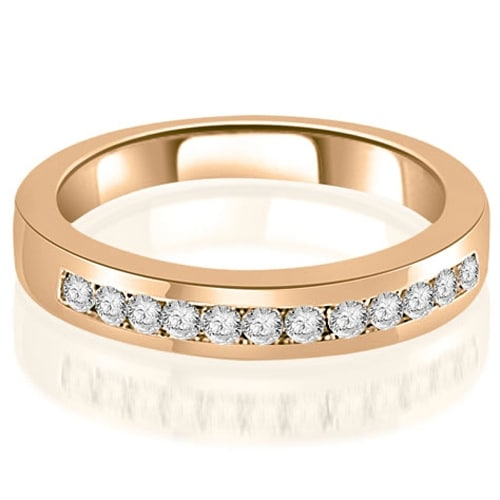 0.30 cttw. 14K Rose Gold Channel Set Round Cut Diamond Wedding Band