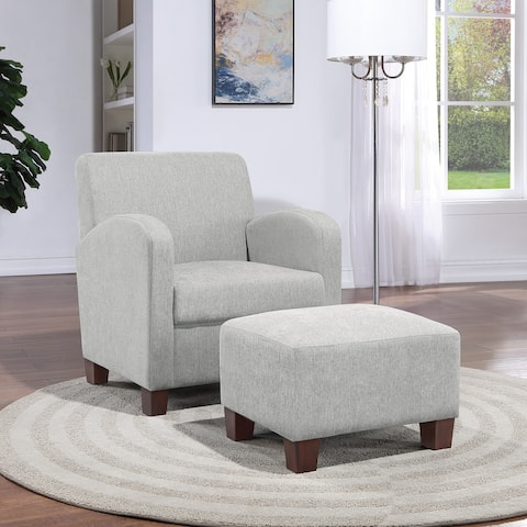 Aiden Chair & Ottoman with Espresso Legs