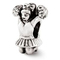 Sterling Silver Reflections Cheerleader Bead (4mm Diameter Hole)
