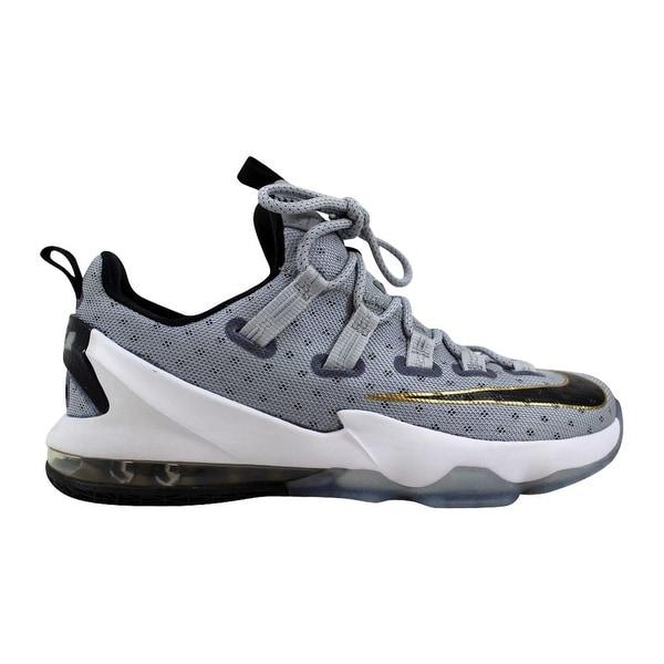 f5f44ceace5 Shop Nike Lebron XIII 13 Low Cool Grey Metallic Gold-White-Black ...