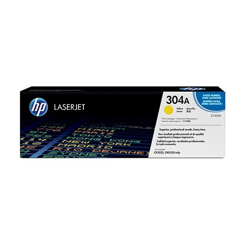 Hewlett Packard 304A Yellow Contract LaserJet Toner Cartridge(CC532AC)(Single Pack) Yellow Contract