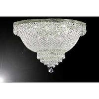 Swarovski Crystal Trimmed Chandelier Lighting Flush Basket Empire Lighting