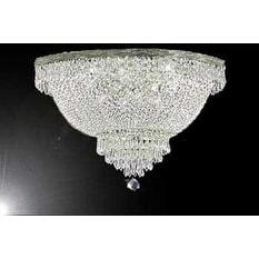 Swarovski Elements Crystal Trimmed Chandelier Lighting French Empire Crystal Flush