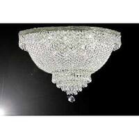 Swarovski Crystal Trimmed Chandelier Lighting French Empire Crystal Flush