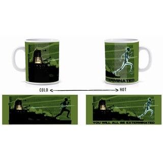 Doctor Who Heat Sensitive Dalek Skeleton Coffee Mug